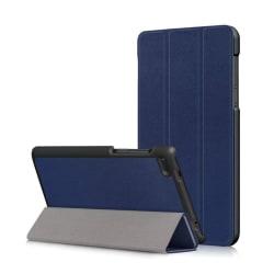 Lenovo Tab 7 Essential Vikbart läder fodral - Mörk blå