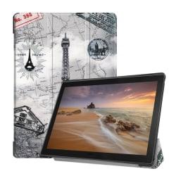 Lenovo Tab E10 tri-fold pattern leather flip case - Eiffel T