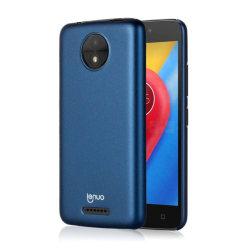 LENUO Motorola Moto C Snyggt enfärgat skal - Blå