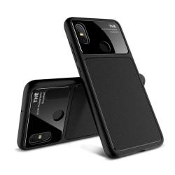LENUO Xiaomi Mi 8 mobilskal TPU härdat glas skydd - Svart