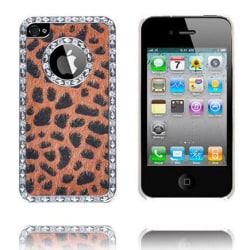 Leopard Bling (Orange) iPhone 4S Skal