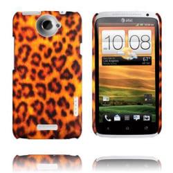 Leopard Fashion (Orange) HTC One X Skal