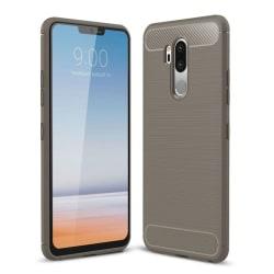 LG G7 ThinQ mobilskal TPU material skyddande borstad kolfibe