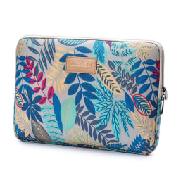 LISEN laptop 14 tum laptopväska flanell canvas löv - Grå bak