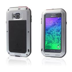 Love Me Samsung Galaxy Alpha Metall Skal - Silver