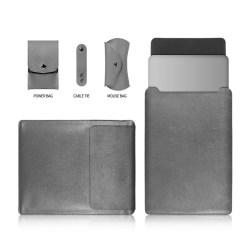 MacBook Pro 15-tum (2016) läderväska musplatta mikrofiber PU