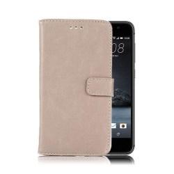 Mankell HTC One A9 Plånbok Läderfodral med Ställ - Grå