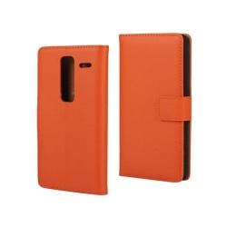 Mankell Läderfodral av Äkta Läder till LG Zero - Orange