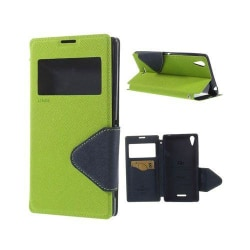 Marklund (Grön) Sony Xperia T3 Läder Flip Fodral