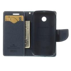 Mercury (Turkos / Mörkblå) Motorola Moto E Fodral