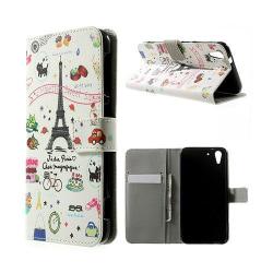 Moberg HTC Desire Eye Läder Flip Fodral - Eiffel Tornet & Fr