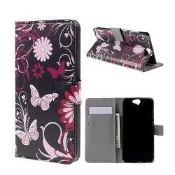 Moberg HTC One A9 Fodral - Fjäril Blommor