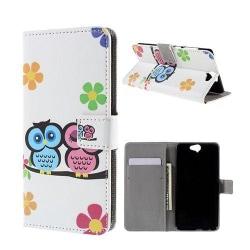 Moberg HTC One A9 Fodral - Förtjusande Ugglor och Blommor