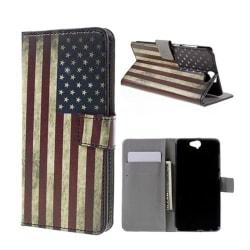 Moberg HTC One A9 Fodral - Retro Amerikanska Flaggan