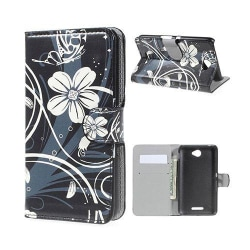 Moberg Sony Xperia E4 Fodral med Plånbok - Elegant Floral