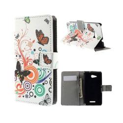 Moberg Sony Xperia E4G med Korthållare - Fjärilar och Cirkla