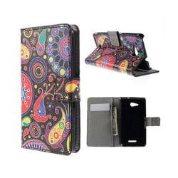 Moberg Sony Xperia E4G med Plånbok - Paisley Blommor
