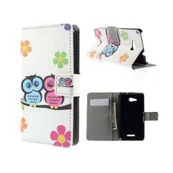Moberg Sony Xperia E4G med Plånbok - Uggle Par & Blommor