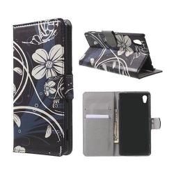 Moberg Sony Xperia M4 Aqua Fodral - Vita Blommor