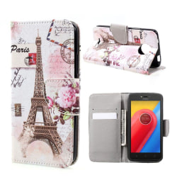 Motorola Moto C Fodral med unikt motiv - Eiffel tornet