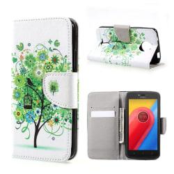 Motorola Moto C Fodral med unikt motiv - Grönt träd