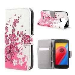 Motorola Moto C Fodral med unikt motiv - Rosa blommor