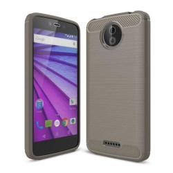 Motorola Moto C Karbon fiber designat skal - Grå