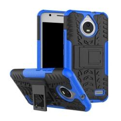 Motorola Moto E4 Hybird skal med däck mönster - Blå