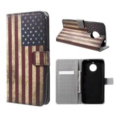 Motorola Moto E4 Plus Fodral med unikt motiv - USA flagga