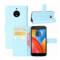 Motorola Moto E4 Plus Modernt fodral i skinn - Blå