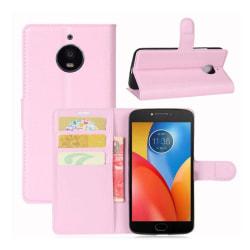 Motorola Moto E4 Plus Modernt fodral i skinn - Ljus rosa