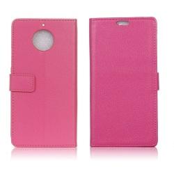 Motorola Moto E4 Plus Stilrent fodral i skinn - Rosa