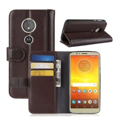 Motorola Moto E5 mobilskal genuin läder stående plånbok - Br