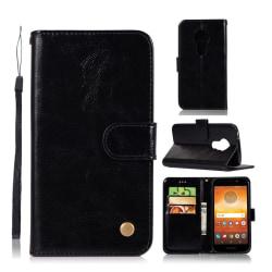 Motorola Moto E5 Play mobilfodral syntetläder silikon ståend