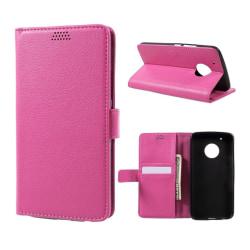 Motorola Moto G5 Plus Fodral med plånbok - Rosa