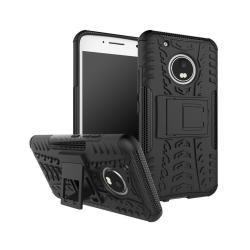 Motorola Moto G5 Plus Hybird skal med kickstand - Svart