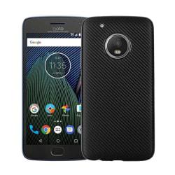 Motorola Moto G5 Stilrent karbon fiber skal - Svart