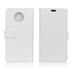 Motorola Moto G5S Fodral med krokodil skinn - Vit