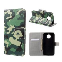 Motorola Moto G5S Plus Fodral med modernt tryck - Militär