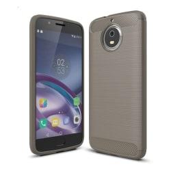 Motorola Moto G5S Skal med kolfiber textur - Grå