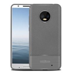 Motorola Moto G6 Plus mobilskal TPU material litchi och bors