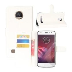 Motorola Moto Z2 Play Unikt skinn fodral - Vit