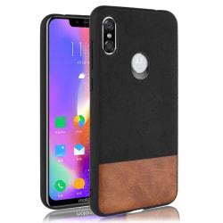 Motorola One bi-color leather combo case - Black