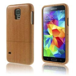 Natural (Körsbär) Samsung Galaxy S5 Äkta Träskal