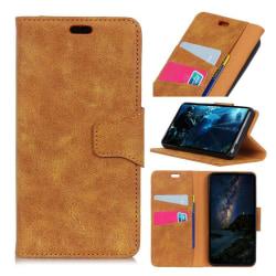 Nokia 3.1 mobilfodral delad läder silikonmaterial stående pl