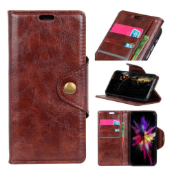 Nokia 3.1 mobilfodral syntetläder silikon stående plånbok -