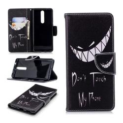 Nokia 5.1 mobilfodral syntetläder silikon stående plånbok tr