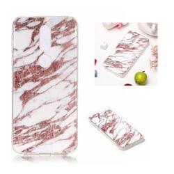 Nokia 7.1 mjukt silikonplast mobilskydd med IMD marmor motiv