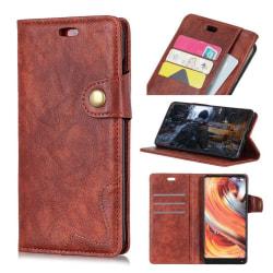 Nokia 7.1 S-mönstrat mobilfodral av vildhäst syntet läder me