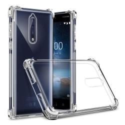 Nokia 8/9 Transparent Cover (Flexible) (Light blue)